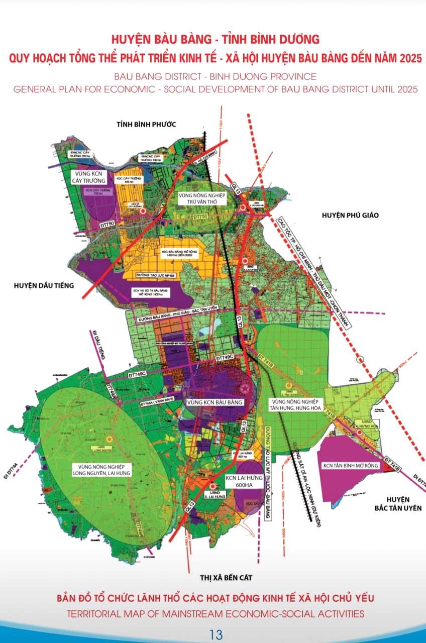 Quy hoạch phát triển đô thị huyện Bàu Bàng Bình Dương