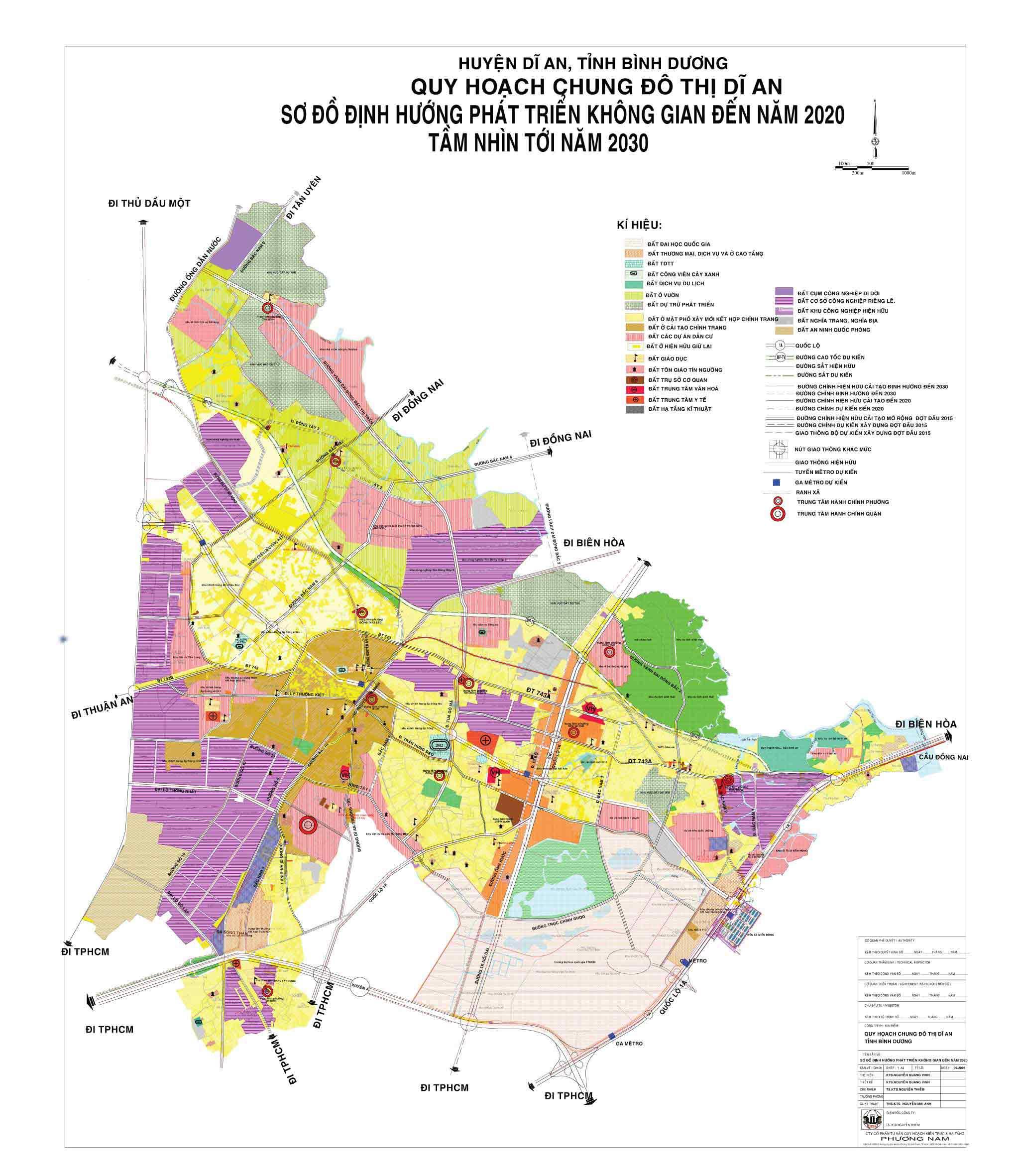 Quy hoạch chung đô thị Dĩ An đến năm 2020 tầm nhìn 2030